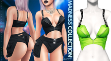 Demon Doll - Suspender Top Neon Green