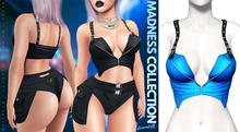 Demon Doll - Suspender Top Splashy Blue
