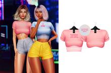 Ec.cloth - Becky Crop Top - Rose (add it)
