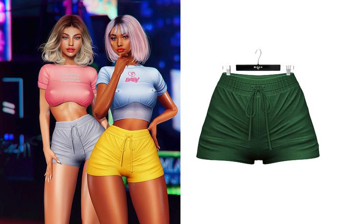 Ec.cloth - Lea Sporty Shorts - Forest Green (add it)