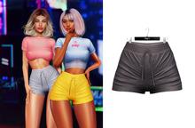 Ec.cloth - Lea Sporty Shorts - Dark Gray (add it)