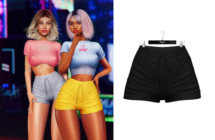 Ec.cloth - Lea Sporty Shorts - Black (add it)