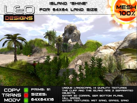 "Island ""Shine"" for 64x64 land size or sky platform"
