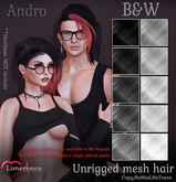 {Limerence} Andro hair-B&W