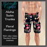 Aloha Swim Trunks - Floral Flamingo