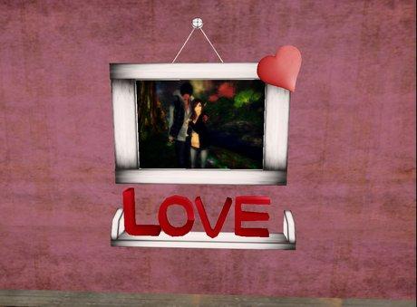 [&Hearts;] Love Shelf Frame