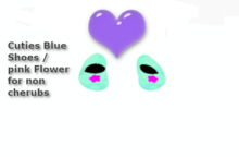 Cuties*Blue Flower Shoes