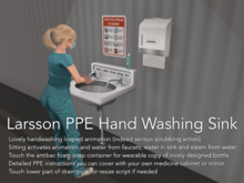 Animated Hand Washing PPE Sink With Water and Sound!