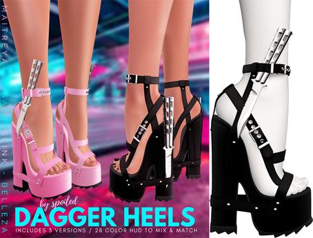 Spoiled - Dagger Heels Black