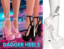 Spoiled - Dagger Heels White