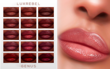 UPDATED ! LUXREBEL ''CELEBRITY SKIN'' Lipsticks (GENUS) DARK