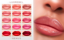 UPDATED ! LUXREBEL ''CELEBRITY SKIN'' Lipsticks (GENUS) LIGHT