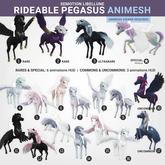 SEmotion Libellune Rideable Pegasus Animesh #2 RARE