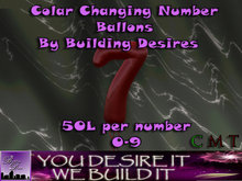 Number 7 Color changing Balloon v.1 (Boxed)