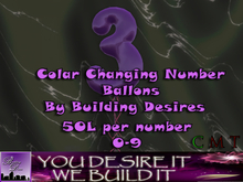 Number 3 Color changing Balloon v.1 (Boxed)