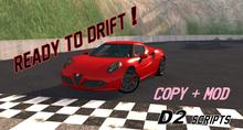 4Cyl D2 Scripted Drift Sport Car