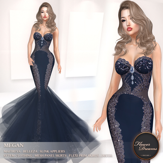 .:FlowerDreams:.Megan - navy (appliers included)