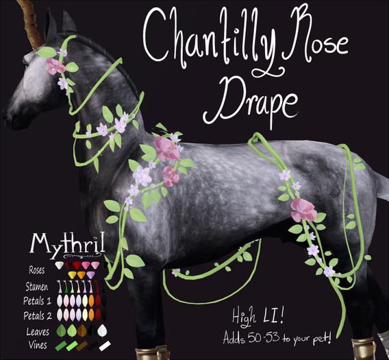 ~Mythril~ Chantilly Rose Drape: Friesian