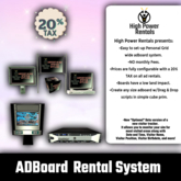 [High Power Rentals]Sim-Wide Adboard System