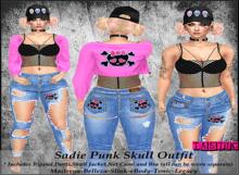 Tastic-Sadie Punk Skull Outfit