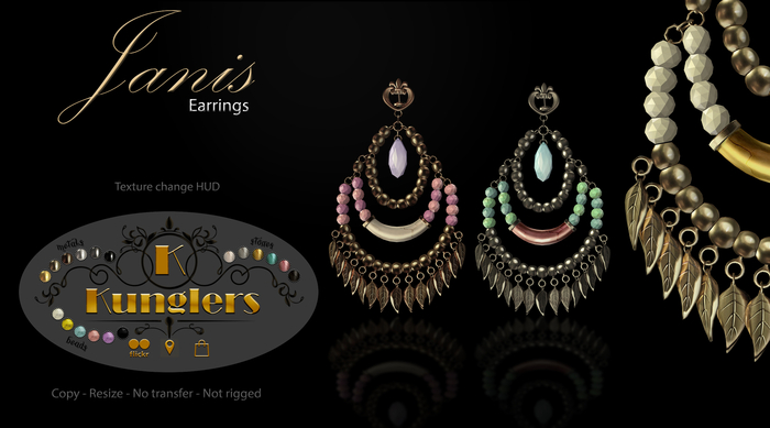 KUNGLERS - Janis earrings