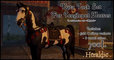 . heraldic . Kura Tack Set TeeglePet Pegasus
