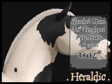 . heraldic . TPet Pegasus Roached Manes