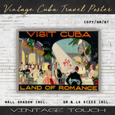 Vintage Touch Old Cuba Travel Poster