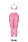 [CK] Sports Bra & Legging Pink  ::Kloss::