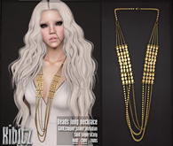 Kibitz - Long beads necklace - gold