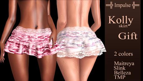 FREE GIFT =Impulse= Kolly Gift skirt (Maitreya, Slink, Belleza, TMP) Old Gift