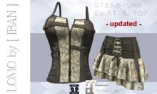 [ IBAN ] MESH Steampunk skirt & Corset // Corsage // Tank Top