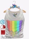 ANIMUS - Pride Tank Shirt - White (add me)