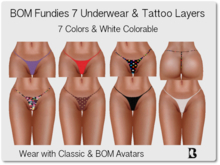 BOM Outfitters High Strap Fundies 2 Layers 7 Colors