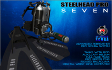 Steelhead Pro Scuba Seven Complete Set Black [Boxed]