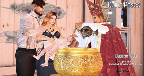 Quinn Poses Baptism Day