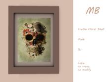 MB box - Frame Floral Skull 1 white