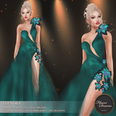 .:FlowerDreams:.Elenora - sea green applier gown