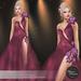 .:FlowerDreams:.Elenora - maroon applier gown