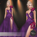 .:FlowerDreams:.Elenora - purple applier gown