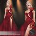 .:FlowerDreams:.Elenora - red applier gown