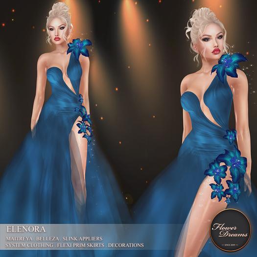 .:FlowerDreams:.Elenora - blue applier gown
