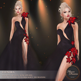 .:FlowerDreams:.Elenora - black applier gown