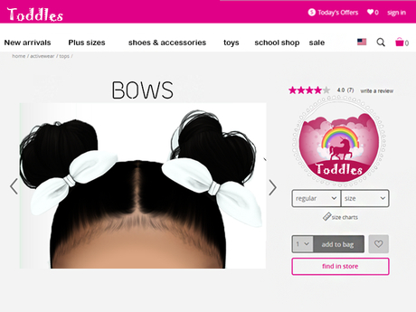 {Toddles} Bows