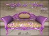 Boudoir-Belle de Fleur Sofa Purple