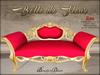 Boudoir-Belle de Fleur Sofa Gold-Red