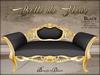 Boudoir-Belle de Fleur Sofa Gold-Black