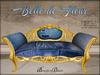 Boudoir-Belle de Fleur Sofa Denim