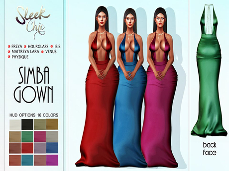 SLEEK CHIC SIMBA GOWN DRESS