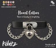 Kibitz - Heart collar - black